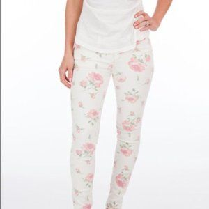 Free People White Rose Floral Skinny Ankle Jeans29